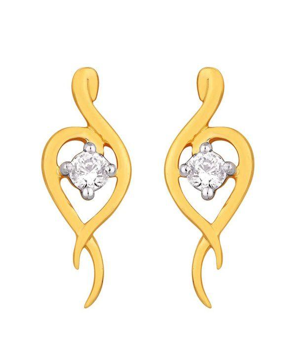 Asmi 18KT IGI Contemporary Diamond Stud Earrings