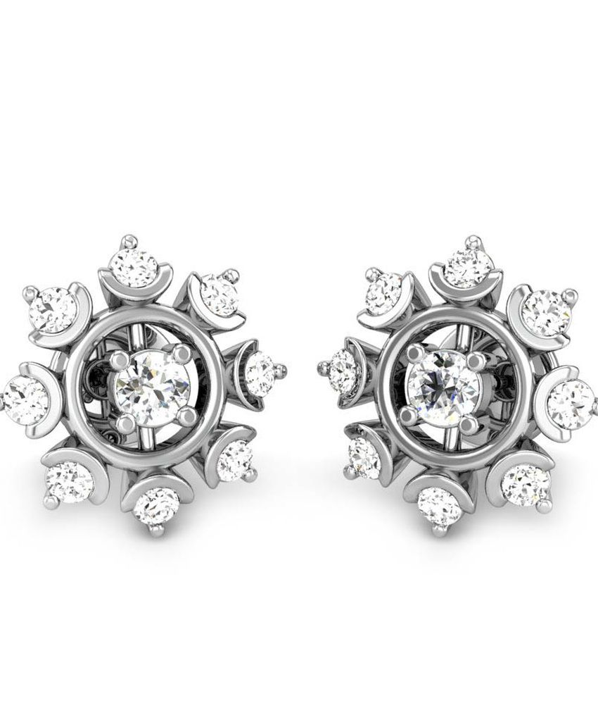 Candere Mridini Diamond Earrings White Gold 18K