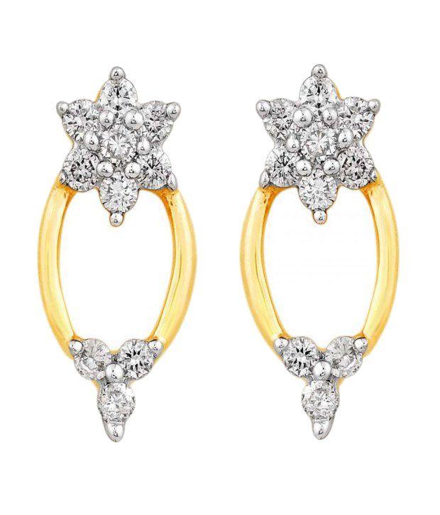 Diya 18KT IGI Contemporary Diamond Stud Earrings