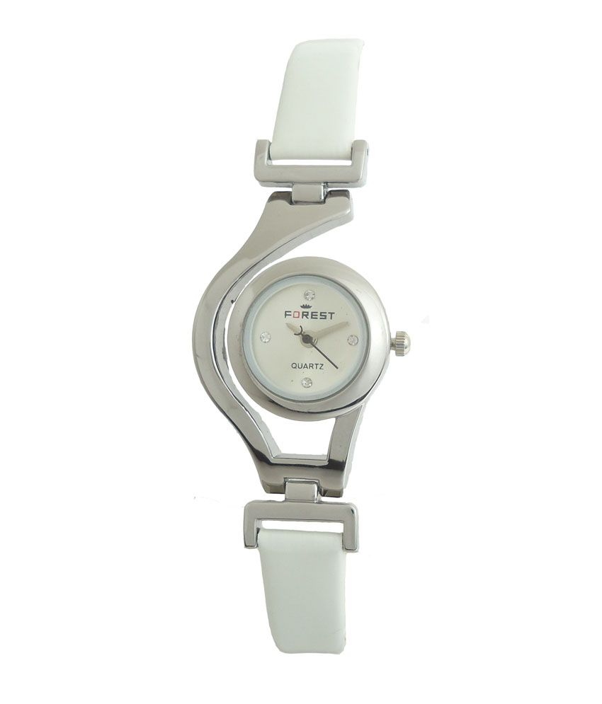 Forest White Dial Analogue Watch for Girls
