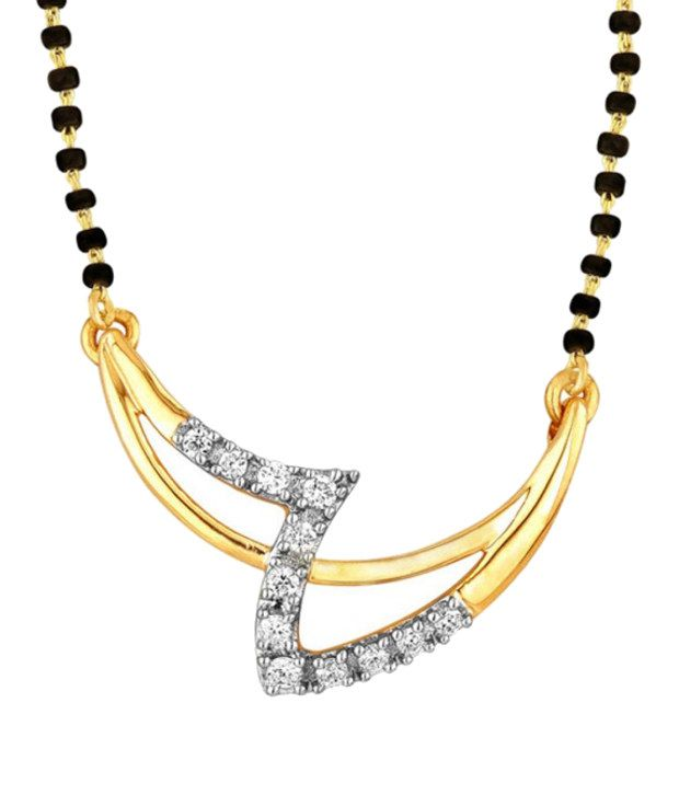 Moira 18Kt Diamonds IGI Traditional Mangalsutra