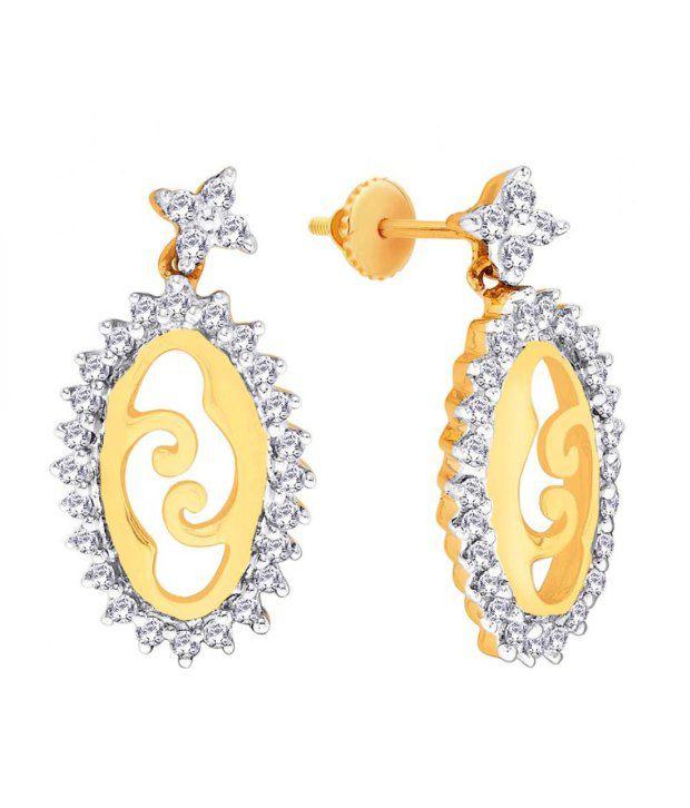 Parineeta 18KT IGI Contemporary Diamond Drop Earrings