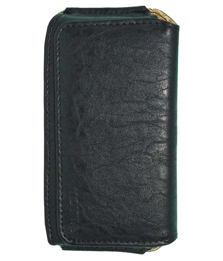 Totta Universal PU Leather Belt Pouch Holster For Intex Aqua i5 Octa - Black