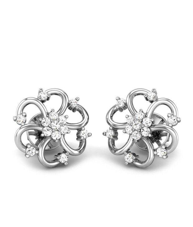 Candere Akriti White Gold 14K Diamond Earing