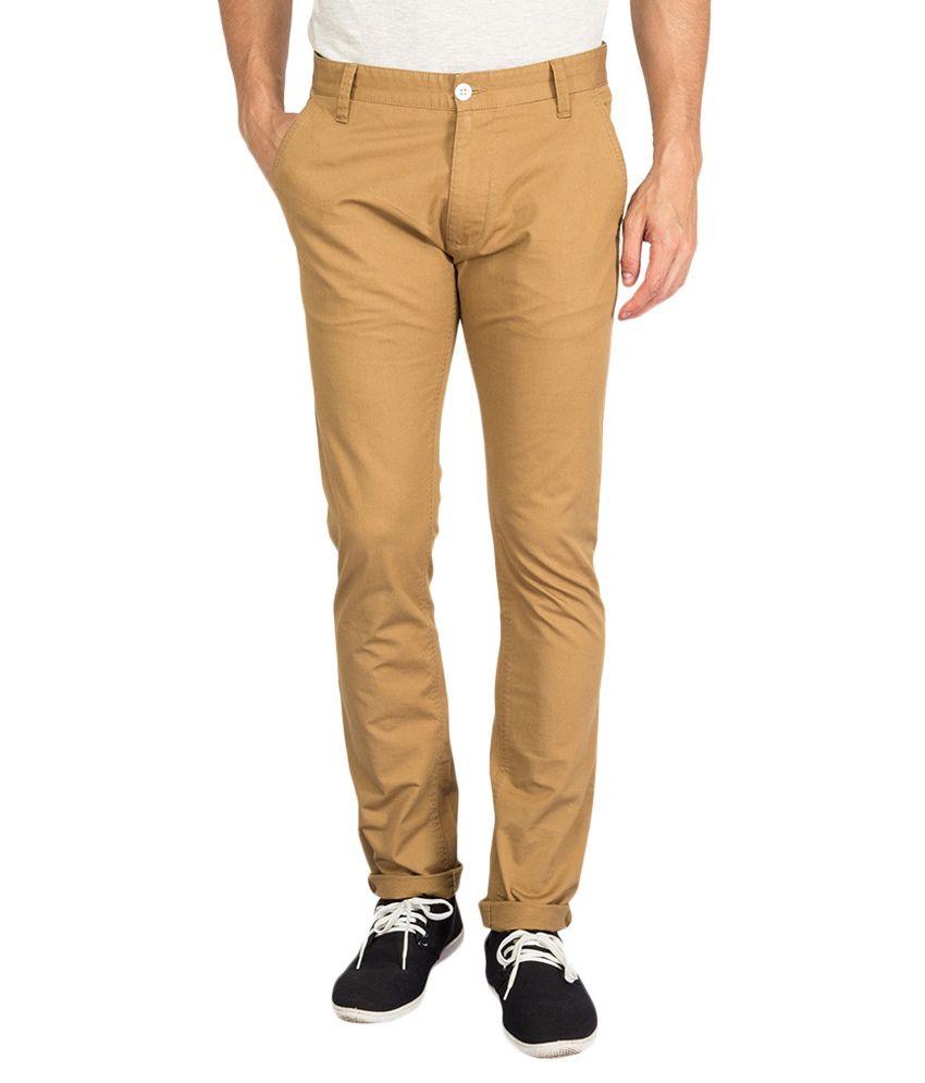 Derby Jeans Community Khaki Cotton Lycra Chinos