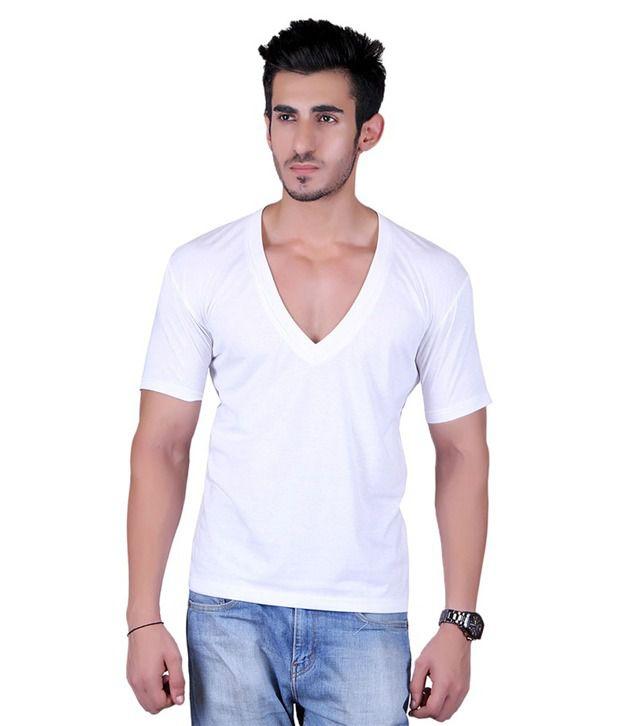 Vivid Bharti White V-Neck T-Shirt