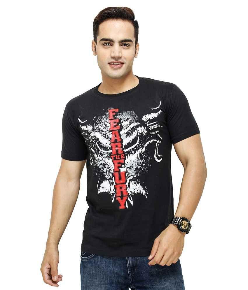 Yuva for men T Shirts Black Fear The Fury T-Shirt - Buy ...