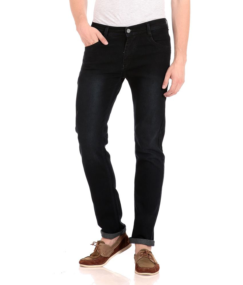 Flyjohn Black Cotton Jeans