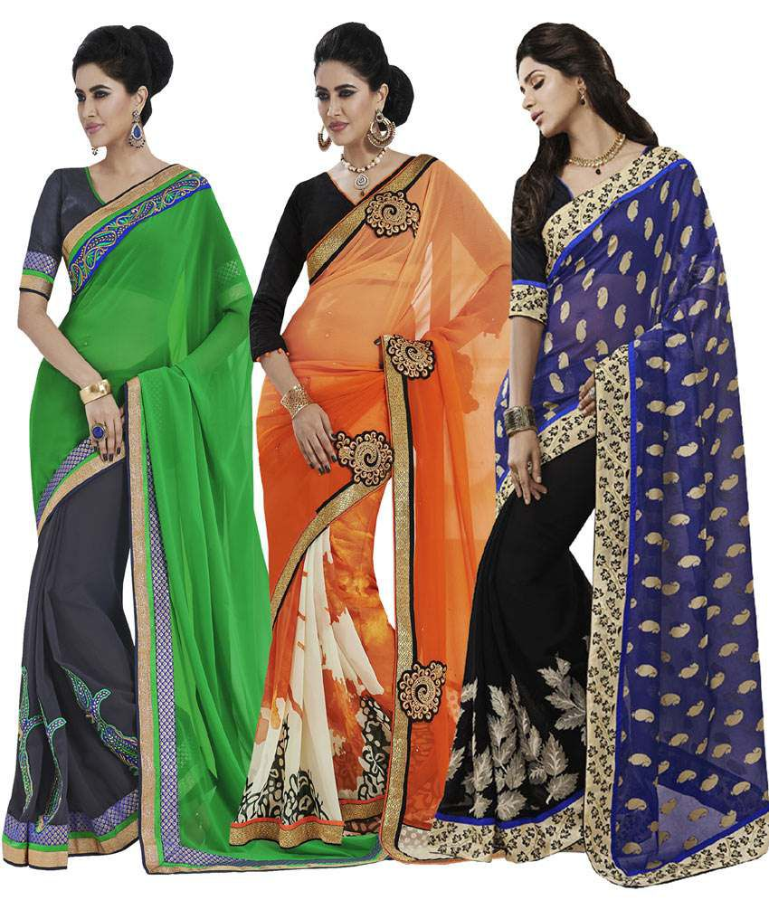 Indian Lady Multi Jacquard Pack of 3