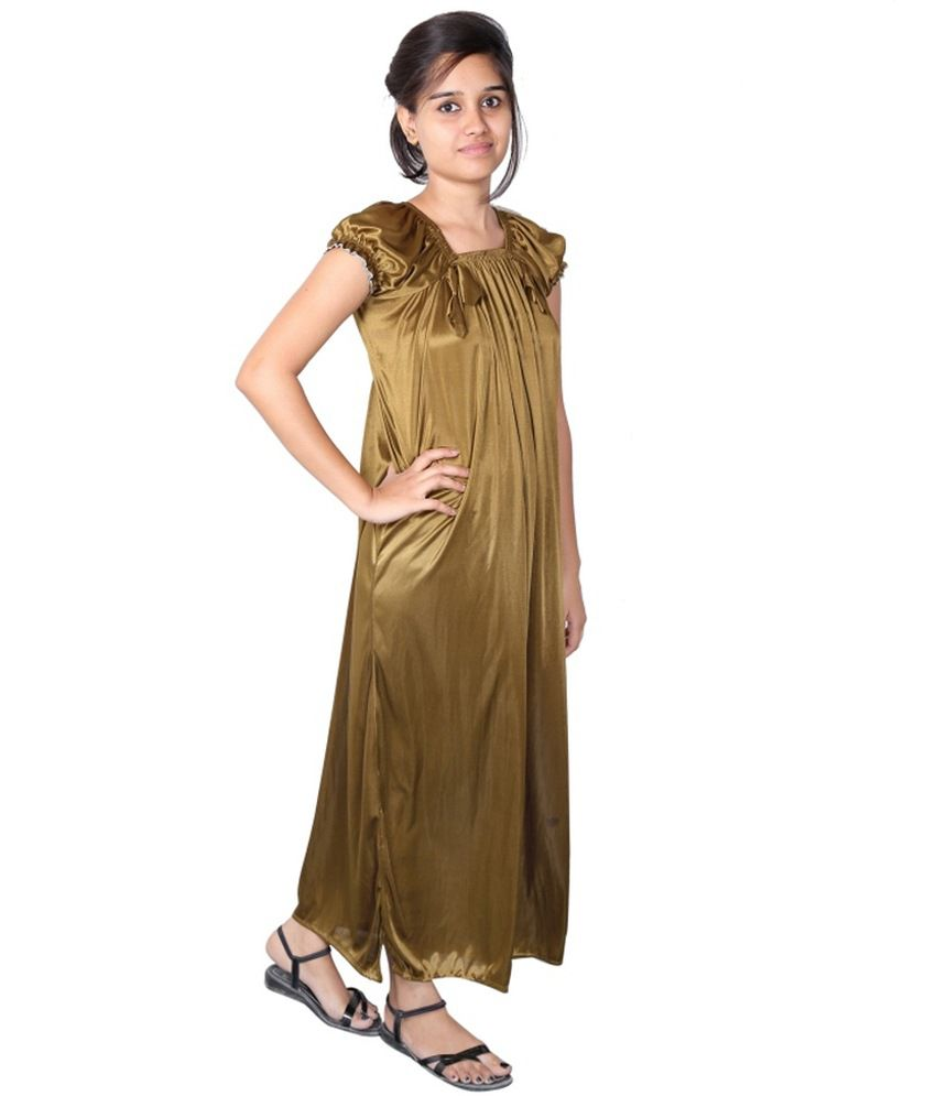 1ec6bebcb Buy Shy Store Green Satin Nighty Online at Best Prices in India - Snapdeal