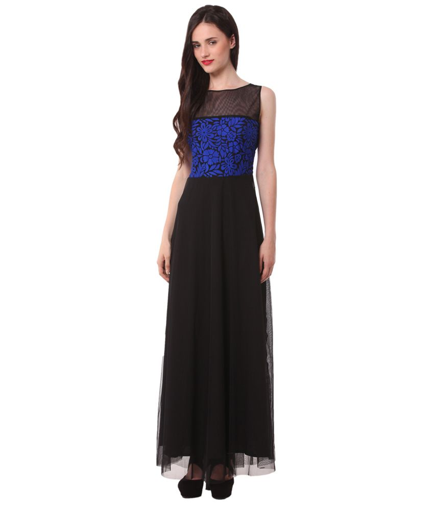 19b83a870c6 Eyelet Black Net Gowns - Buy Eyelet Black Net Gowns Online at Best Prices  in India on Snapdeal