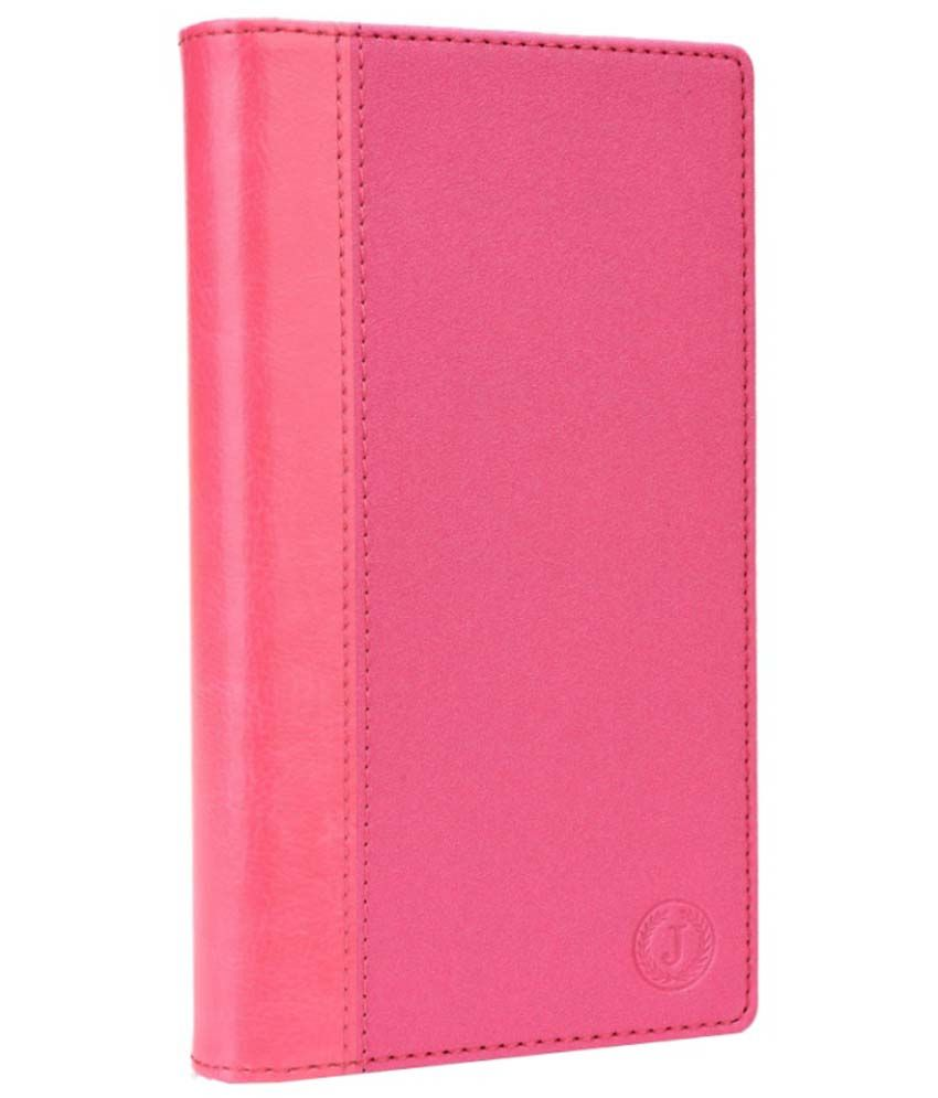 Jo Jo Cover Pouch Flip Case For Lenovo A390   Exotic Pink available at SnapDeal for Rs.390