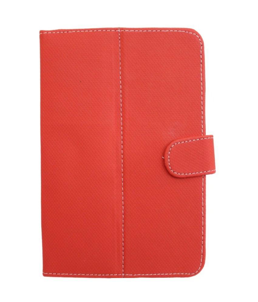 Jo Jo D1 Flip Flap Case For Celkon Ct-910+ - Red