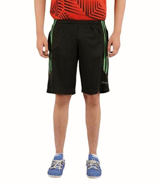 Orizio Black Polyester Printed Shorts