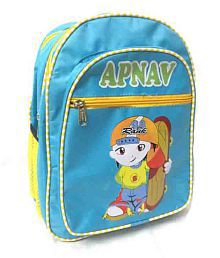 Apnav Polyester Blue Kids School Bag