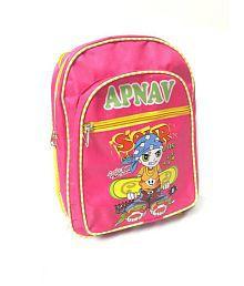 Apnav Polyester Pink Kids School Bag