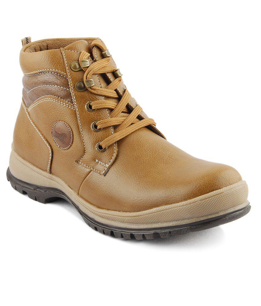 I Sole Tan Faux Leather Boots