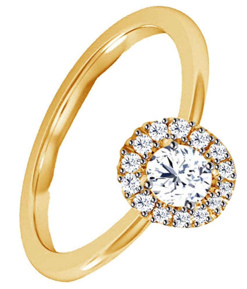 Jacknjewel 92.5 Sterling Silver Diamond Ring