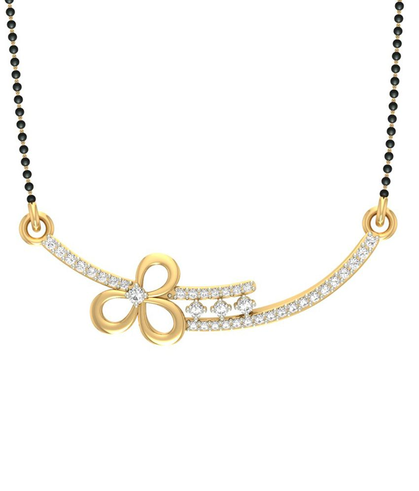 Jewels5 14kt Gold Diamond Aardra Mangalsutra