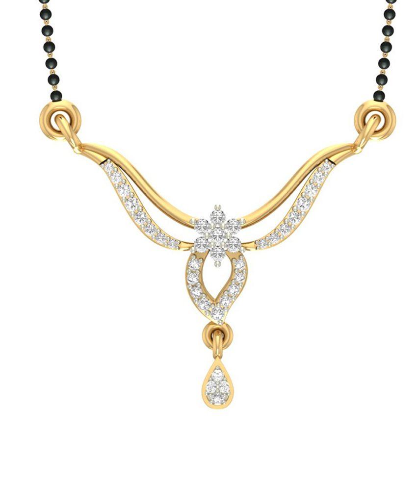 Jewels5 18kt Gold Diamond Anjum Mangalsutra