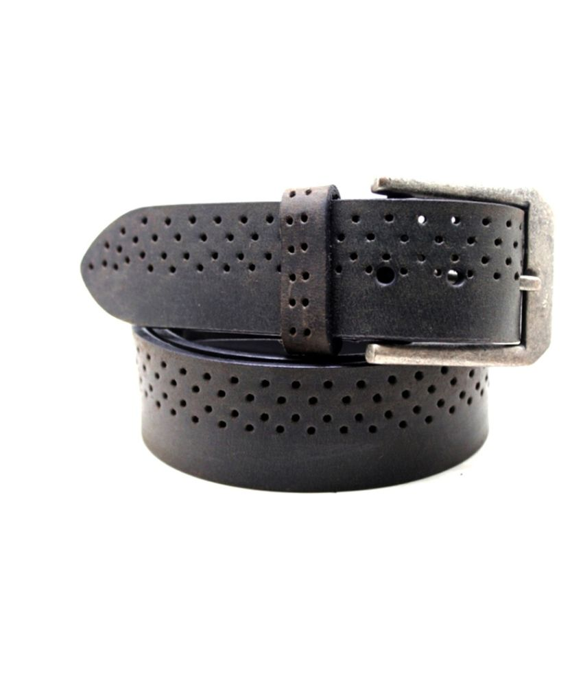 Lapalma Gray Leather Belt For Men