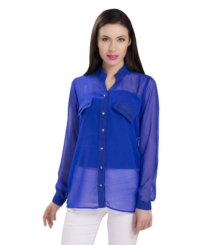 740e5ff9be49f Ishin Blue Poly Georgette Tops - Buy Ishin Blue Poly Georgette Tops Online  at Best Prices in India on Snapdeal