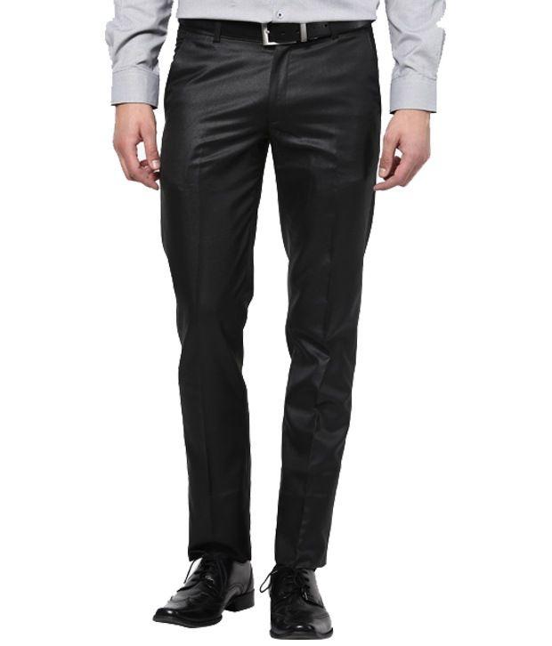 Santosh & Sons Black Poly Viscose Trouser