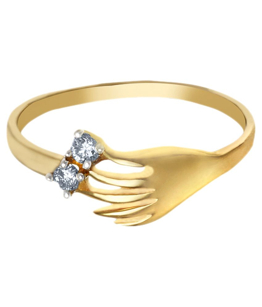 Aurik Diamond 14Kt Gold Contemporary Diamond Ring