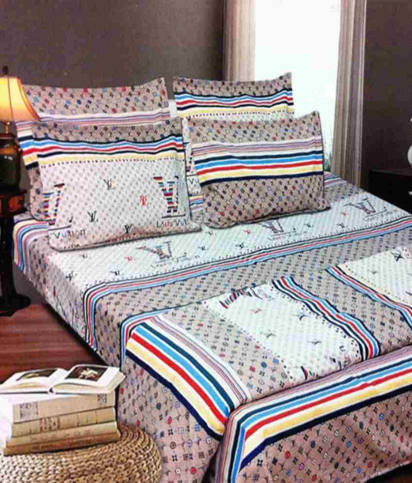 Cranberry Louis Vuitton Cotton Double Bedsheet Living 7001 Buy