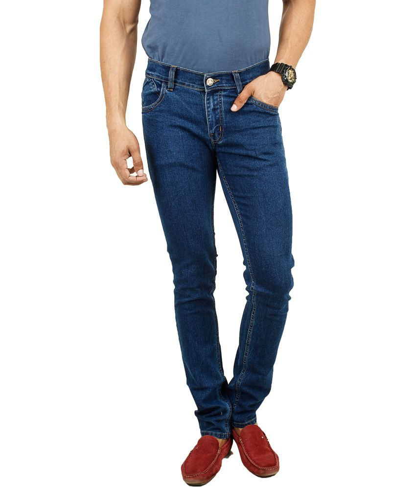 Masterly Weft Blue Cotton Regular Men's Jeans