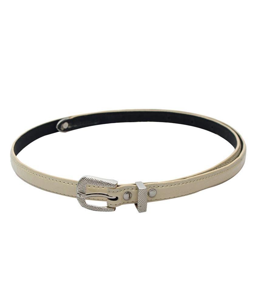 Skyways Beige Non Leather Women Belt
