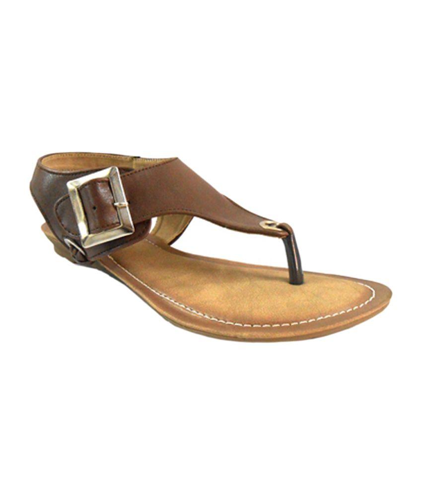 Kick Flyers Brown Faux Leather Sandal