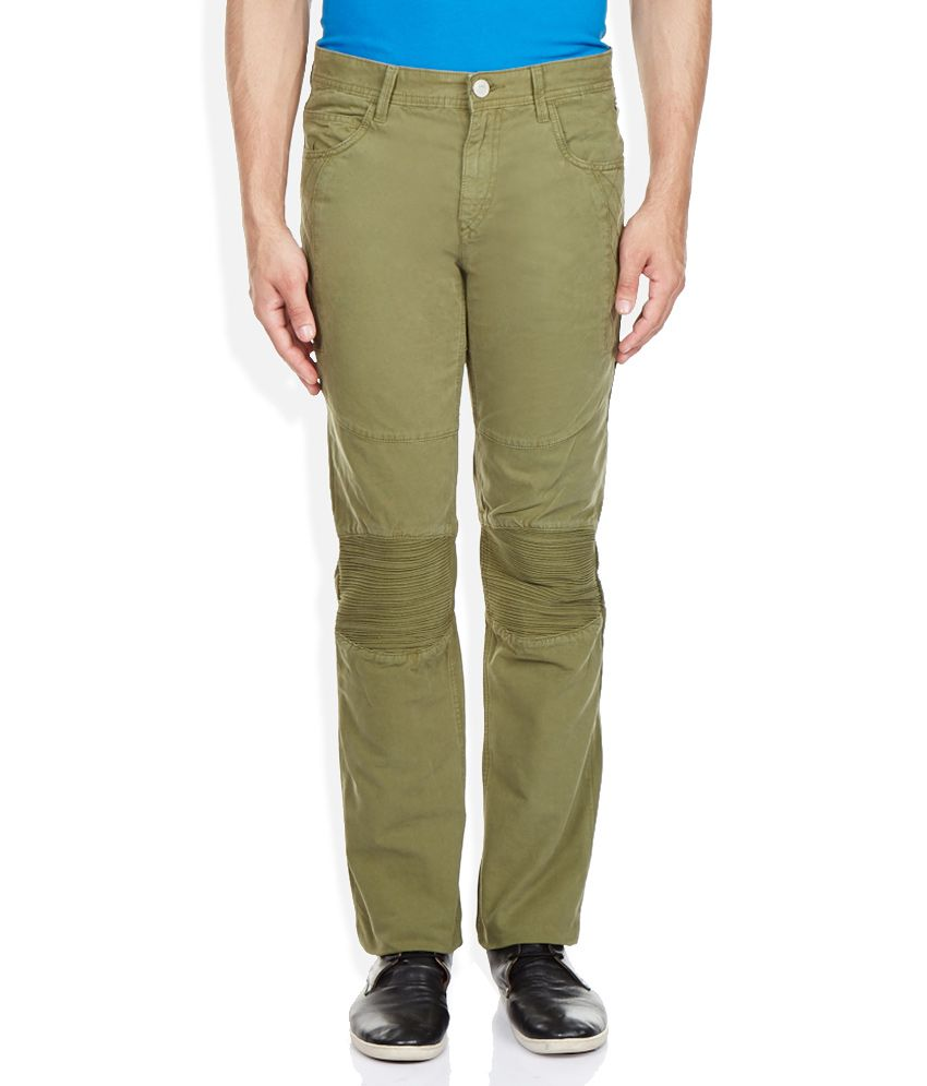 Route 66 Green Solid Chinos
