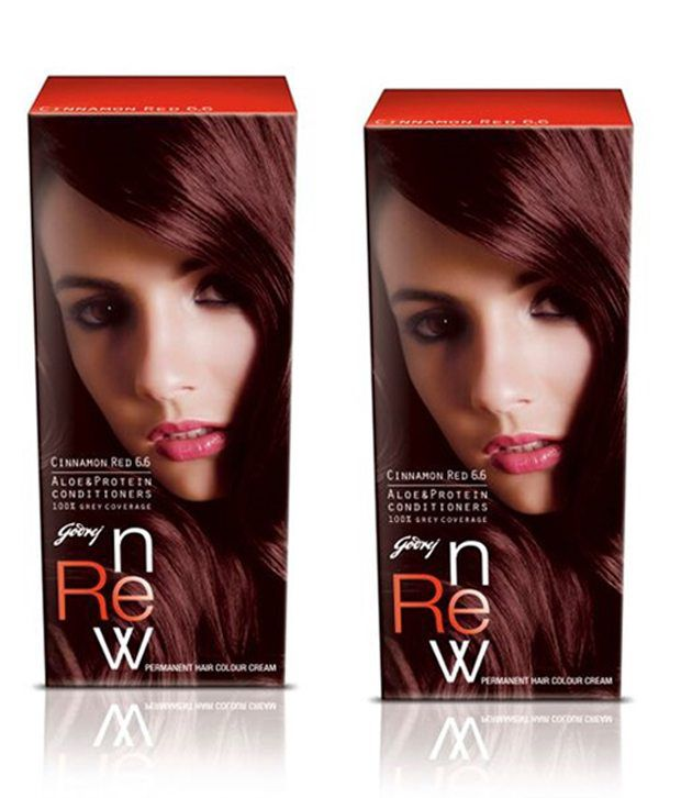 Godrej Renew Creme Hair Colour Cinnamon Red Pack Of 2 68g50ml