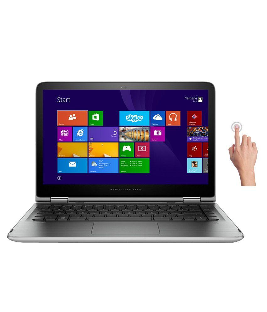 HP Pavilion 13-a201TU Notebook (L8P03PA) (5th Gen Intel Core i5- 4GB RAM- 1TB HDD- 33.78 cm (13.3) Touch- Windows 8.1) (Silver)