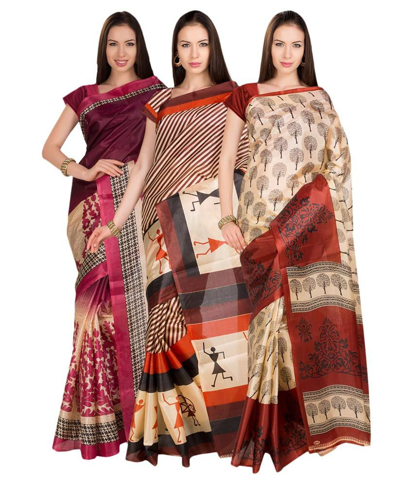Ishin Multi Art Silk Pack of 3