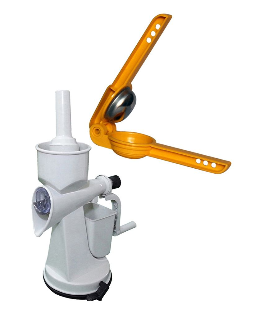 MUD Combo of Fruit Vegetable Juicer and Lemon Squeezer Plastic Body