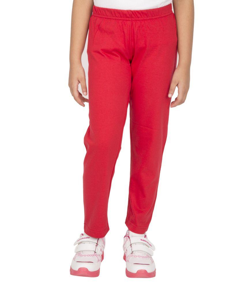 Ocean Race Red 100 % Cotton Leggings