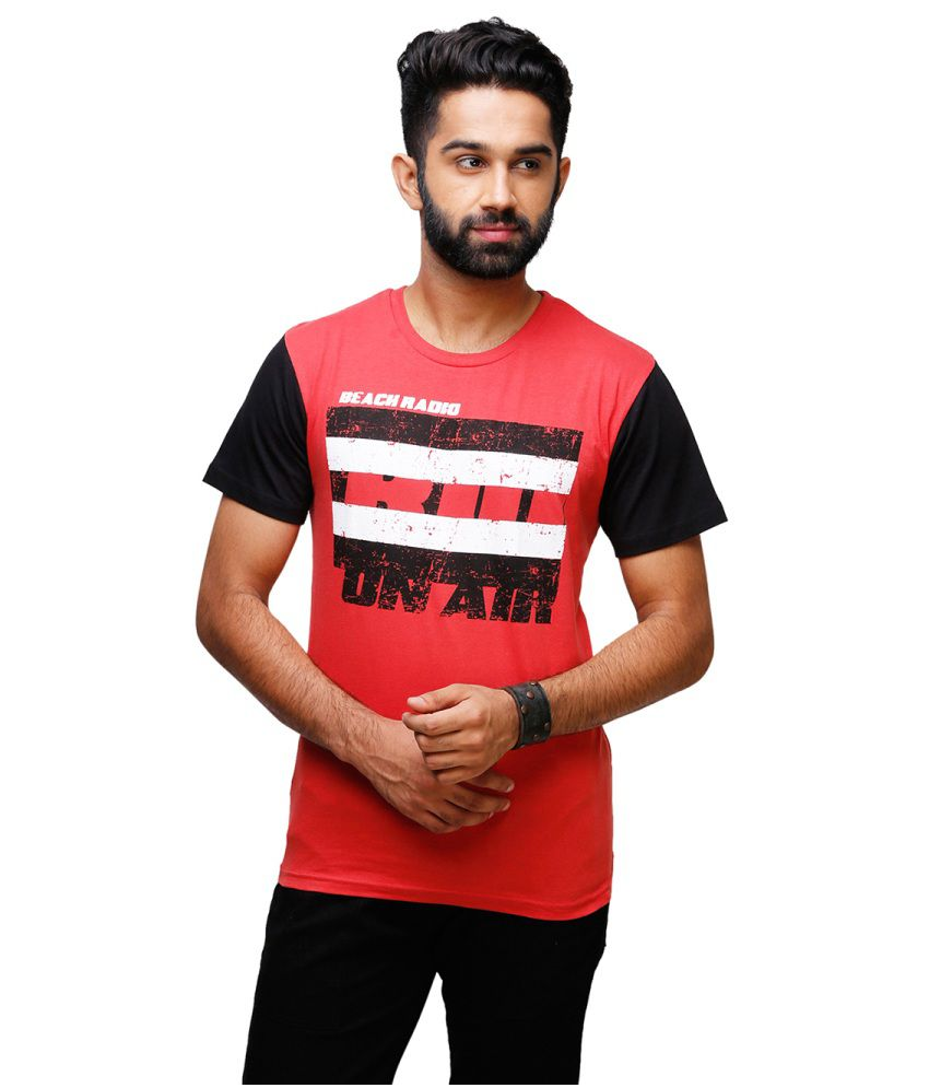 Yepme Red Cotton T-shirt