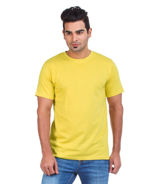 Bay6 Mens Gallery Yellow Cotton Tshirt- Pack Of 3