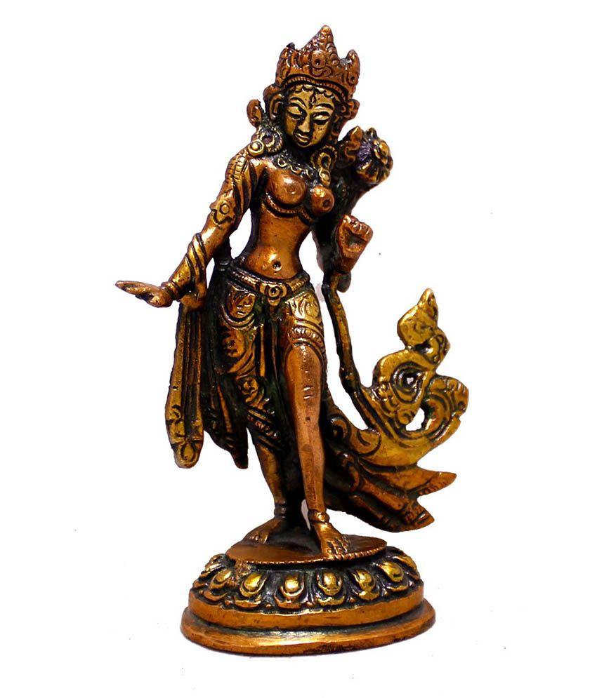 Krishna Mart Brown Brass Religious Idols