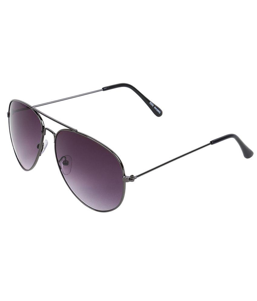 Maxion Purple Steel Polycarbonate Aviator Sunglass