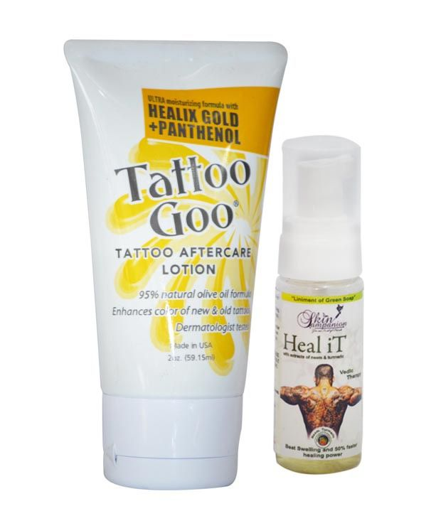 Tattoo goo healix gold panthenol lotion 2oz get a for Best lotion for a tattoo