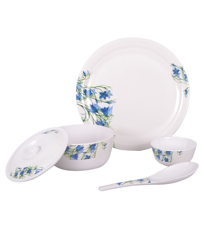 cello white melamine dinnerware 18 pcs buy online at best price in india snapdeal. Black Bedroom Furniture Sets. Home Design Ideas