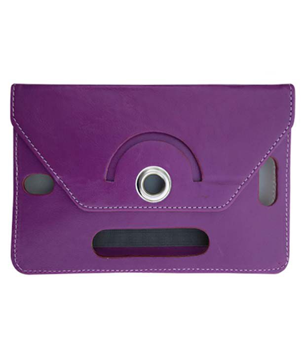 Fastway Leather Flip Stand Cover For Digi Flip Pro Xt 712 -Purple