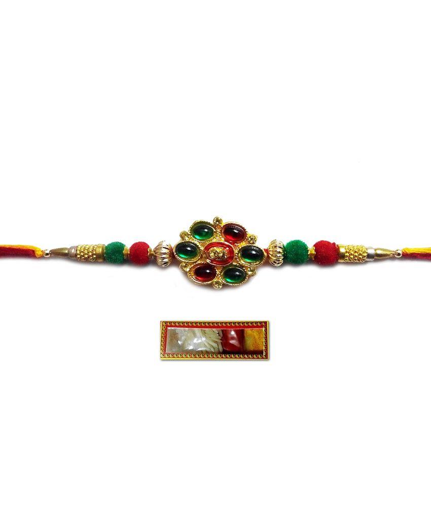 Shubh Handmade Designer Moti Rakhi