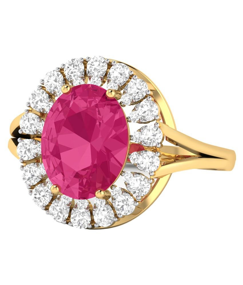 Wearyourshine By Pc Jeweller Colour Spark 18KT Gold Ring