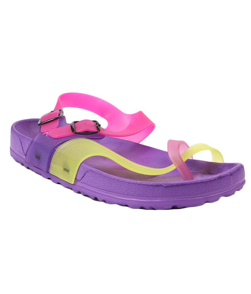 Aalishan Footwear Purple EVA Slippers