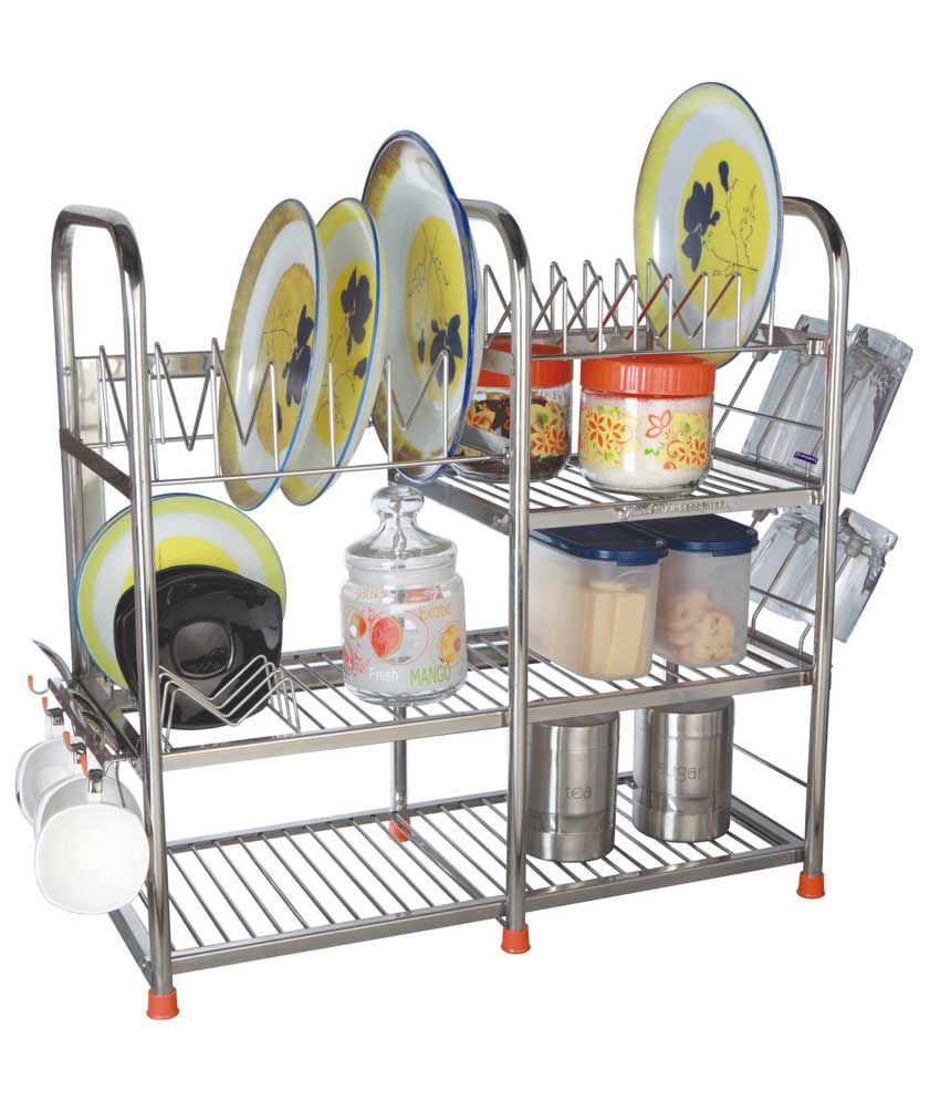 Amol stainless steel kitchen rack buy amol stainless for Snapdeal products home kitchen decorations