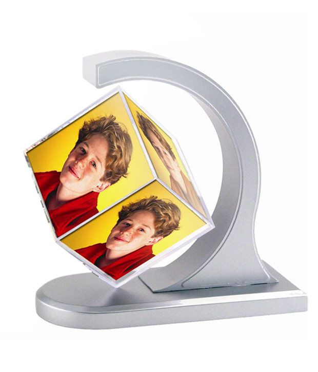 17010f6f52c8 ... Rotating Magnetic Photo 3D Cube Customized Photo Frame  Buy Cpex  Off-White Floating Rotating Magnetic Photo 3D Cube Customized Photo Frame  at Best Price ...